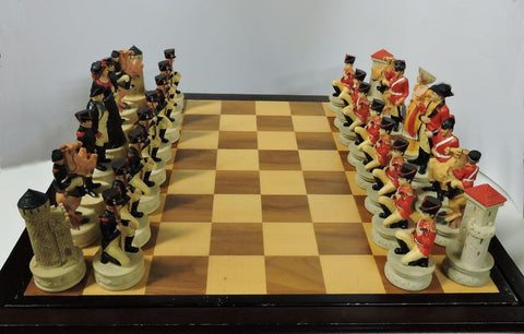 themed chess set the Battle of Waterloo piece hand painted Battle of Waterloo polystone ceramic Duke of Wellington army Bonaparte board game house decor buy