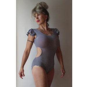 XS-XL MULTISIZED Pole Dance Cutout Leotard PDF Sewing Pattern