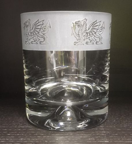 Whiskey Tumbler - Red Dragon The Welsh Dragon - Siop Y Pentan