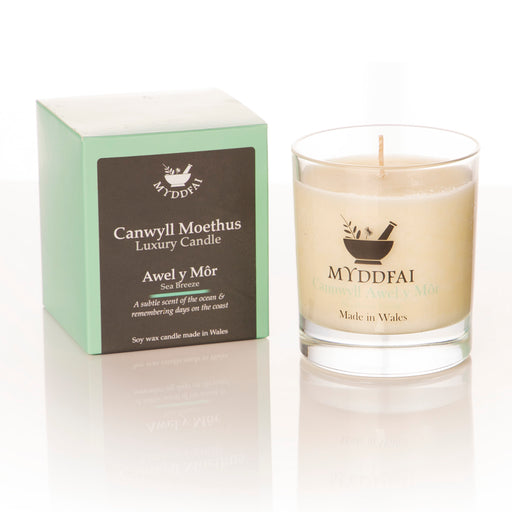 Sea Breeze Candle Myddfai - Siop Y Pentan