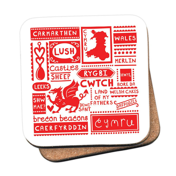 History and Culture of Carmarthen Print, Cushion Plus - Siop Y Pentan