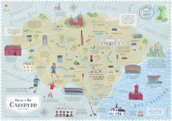 Wales On The Map Cardiff Poster - Siop Y Pentan