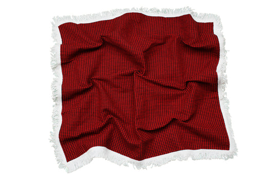 Traditional Welsh Shawl (Black and White) St David's Day - Siop Y Pentan