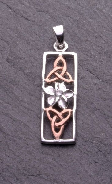 Daffodil ~ Rose Gold Pendant | Celtic Collection - Siop Y Pentan