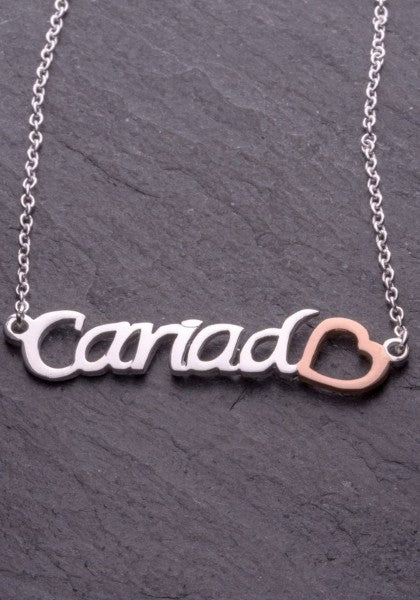 Cariad ~ Rose Gold Pendant | Celtic Collection - Siop Y Pentan