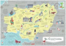 Wales On The Map Carmarthenshire Poster - Siop Y Pentan