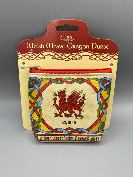 Pwrs Draig Coch | Welsh Dragon Purse - 'Welsh Weave'