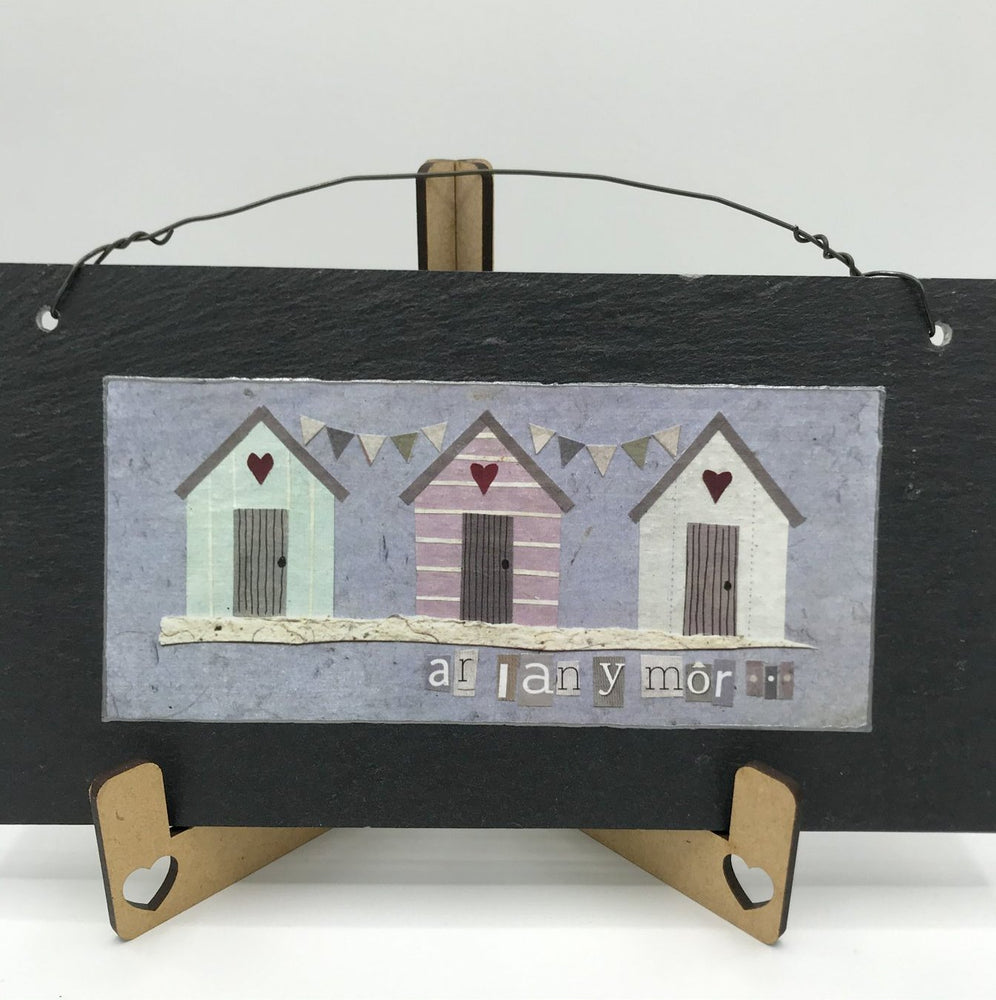 By the Sea Rectangular Slate - Siop Y Pentan