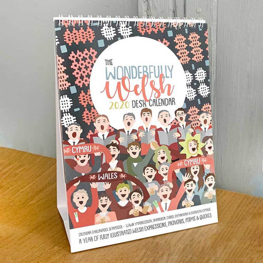 Wonderfully Welsh Desk Calendar - Siop Y Pentan