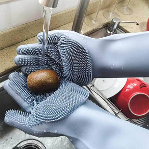 Magic Dishwashing Gloves-Home & Kitchen-Online Best Deals-Gray-A Pair-Online Best Deals