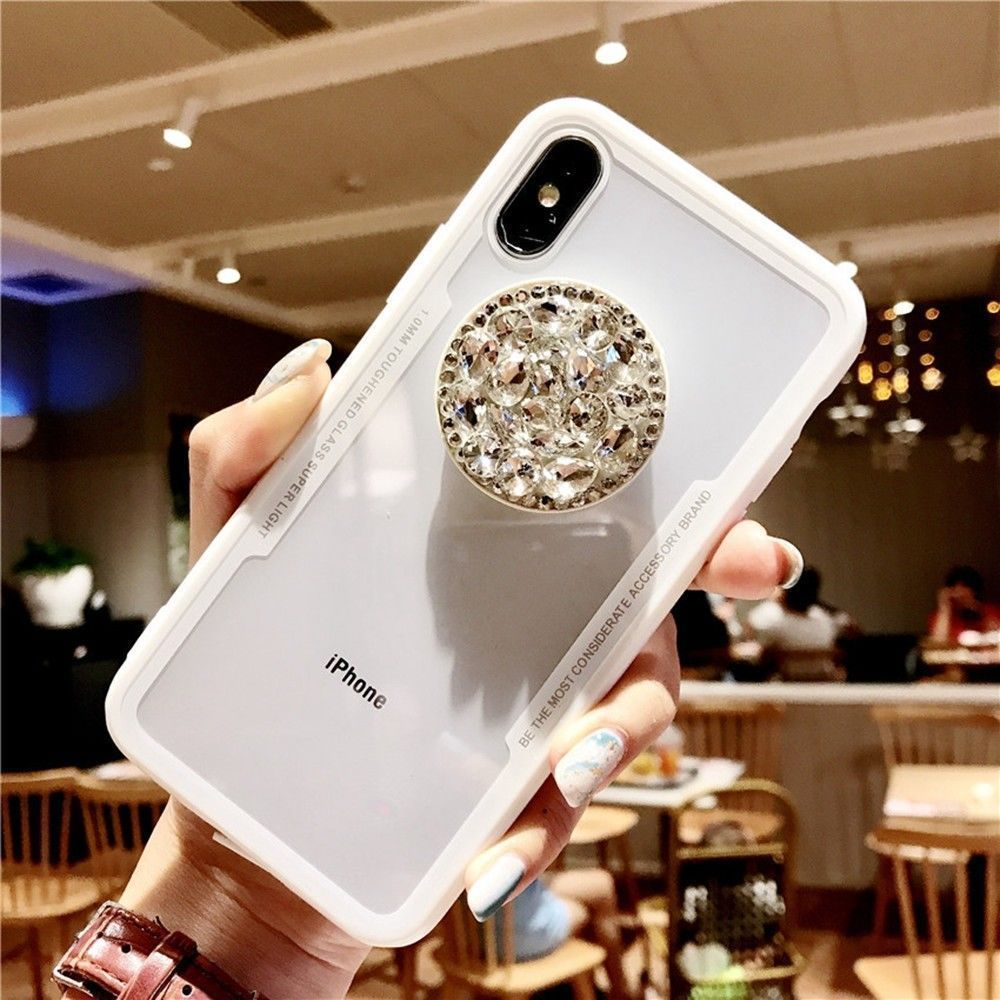 3D Diamond Pop Socket iPhone & Samsung Case-Online Best Deals-White-for iphone XR-Online Best Deals