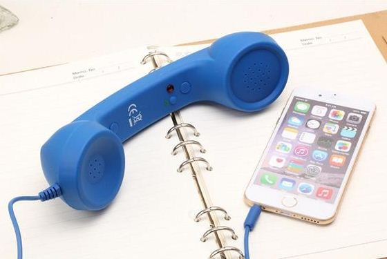 Mobile Phone Handset Mic & Speaker-Online Best Deals-Blue-Online Best Deals