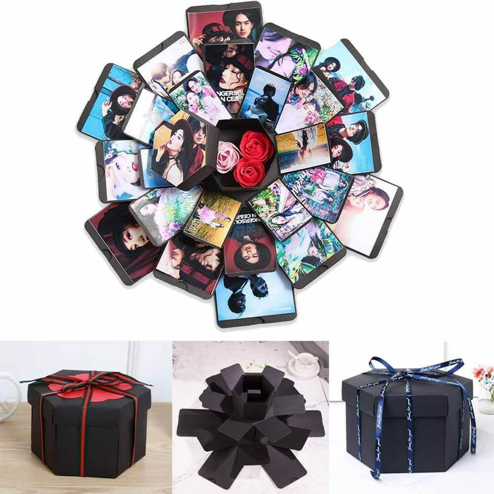 Customizable Hexagon Love Note Explosion Gift Box-Online Best Deals
