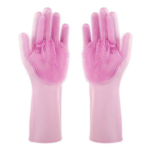 Magic Dishwashing Gloves-Home & Kitchen-Online Best Deals-Pink-A Pair-Online Best Deals