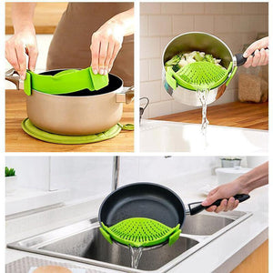 Strainer Clip-on Kitchen Tool-Online Best Deals-Green-Online Best Deals