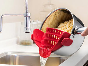 Strainer Clip-on Kitchen Tool-Online Best Deals-Red-Online Best Deals
