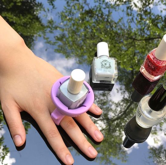 Wearable Nail Polish Ring & Bottle Holder-Online Best Deals