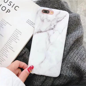 Marble Case For Iphone (best christmas gift)-Online Best Deals-White-For iPhone 8-Online Best Deals