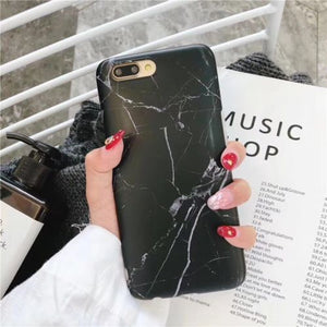 Marble Case For Iphone (best christmas gift)-Online Best Deals-Black-For iPhone 8-Online Best Deals