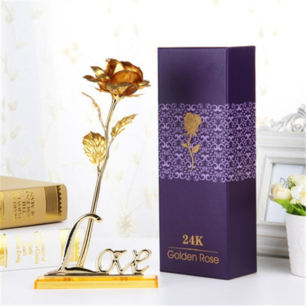 24K Gold Plated Rose With Gift Box-Online Best Deals-Online Best Deals