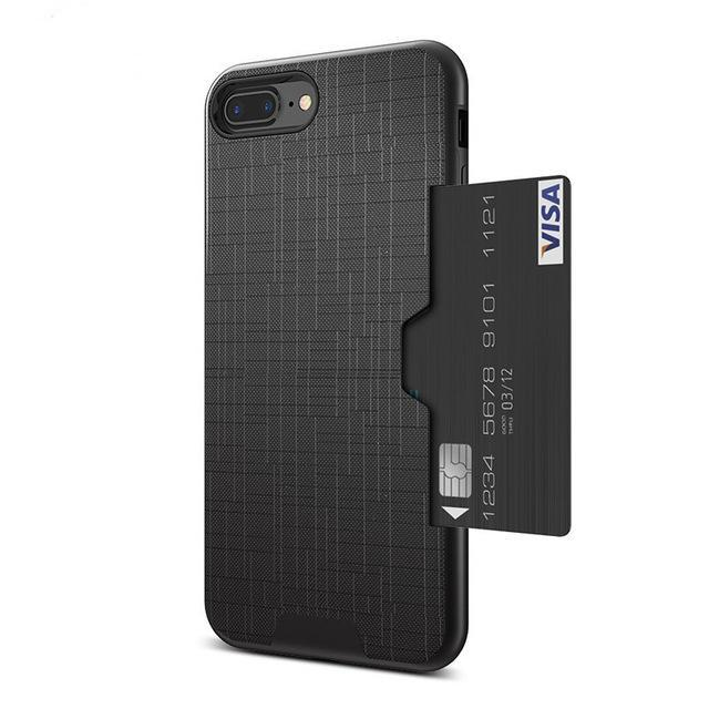 Card Slot Phone Case For iPhone-Online Best Deals-Black-For iPhone 7-Online Best Deals