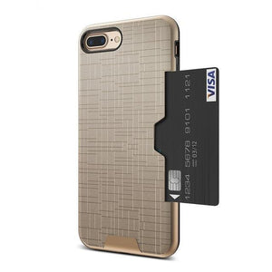 Card Slot Phone Case For iPhone-Online Best Deals-Gold-For iPhone 7-Online Best Deals