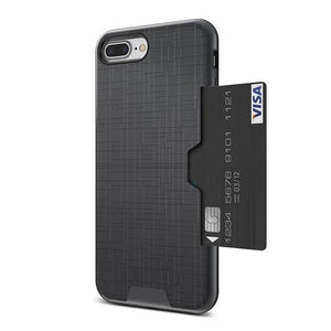Card Slot Phone Case For iPhone-Online Best Deals-Gray-For iPhone 7-Online Best Deals