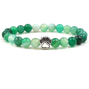 8mm Bracelet Stone Beads Dog Cat Paw-Online Best Deals-Green-Online Best Deals