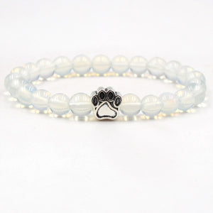8mm Bracelet Stone Beads Dog Cat Paw-Online Best Deals-Opal-Online Best Deals