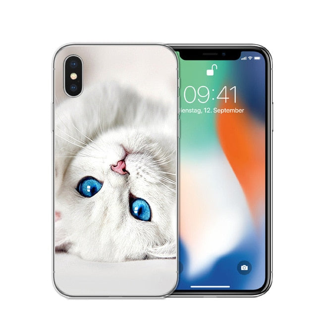 Cat Staring Eyes Soft TPU Phone Case For iPhone X 5S SE 6 6S 7 Plus 8 8Plus-Online Best Deals-Online Best Deals