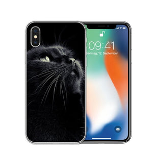 Cat Staring Eyes Soft TPU Phone Case For iPhone X 5S SE 6 6S 7 Plus 8 8Plus-Online Best Deals-T0585-For iPhone X-Online Best Deals