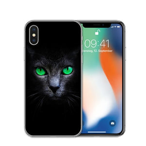 Cat Staring Eyes Soft TPU Phone Case For iPhone X 5S SE 6 6S 7 Plus 8 8Plus-Online Best Deals-T0586-For iPhone X-Online Best Deals