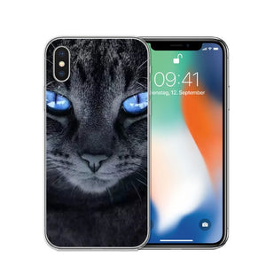 Cat Staring Eyes Soft TPU Phone Case For iPhone X 5S SE 6 6S 7 Plus 8 8Plus-Online Best Deals-T0591-For iPhone X-Online Best Deals