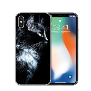 Cat Staring Eyes Soft TPU Phone Case For iPhone X 5S SE 6 6S 7 Plus 8 8Plus-Online Best Deals-T0592-For iPhone X-Online Best Deals