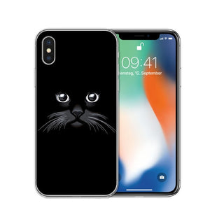 Cat Staring Eyes Soft TPU Phone Case For iPhone X 5S SE 6 6S 7 Plus 8 8Plus-Online Best Deals-T0594-For iPhone X-Online Best Deals