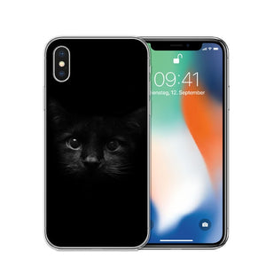 Cat Staring Eyes Soft TPU Phone Case For iPhone X 5S SE 6 6S 7 Plus 8 8Plus-Online Best Deals-T0595-For iPhone X-Online Best Deals