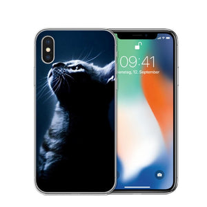 Cat Staring Eyes Soft TPU Phone Case For iPhone X 5S SE 6 6S 7 Plus 8 8Plus-Online Best Deals-T0596-For iPhone X-Online Best Deals