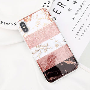 Glitter Powder Marble Phone Case For iPhone-Online Best Deals-7578-For iPhone X-Online Best Deals