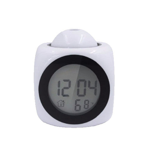 Led Display Time Alarm Clock with Talking & Projection-Online Best Deals-White-Online Best Deals