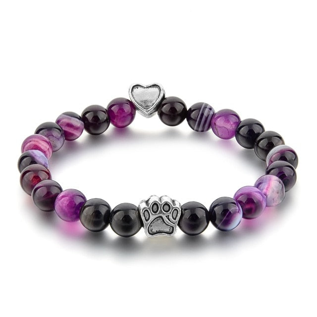 Dog Paw Bracelet-Online Best Deals-Purple-19cm-Online Best Deals