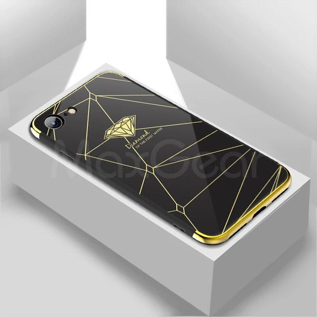 Luxury iPhone mirror case-phone case-Online Best Deals-Black 3-For iPhone X-Online Best Deals