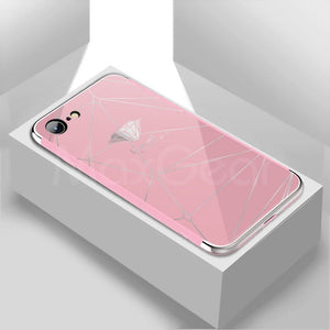Luxury iPhone mirror case-phone case-Online Best Deals-Pink 3-For iPhone X-Online Best Deals