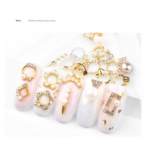 Nail Art Shiny Crystal Rhinestone Decorations 5Pcs/pack-Online Best Deals