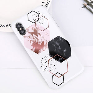 Glitter Powder Marble Phone Case For iPhone-Online Best Deals-7483-For iPhone X-Online Best Deals