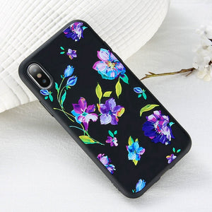 3D Relief Flower Phone Case For iPhone-Online Best Deals-Style 4-For iPhone 5 5s SE-Online Best Deals