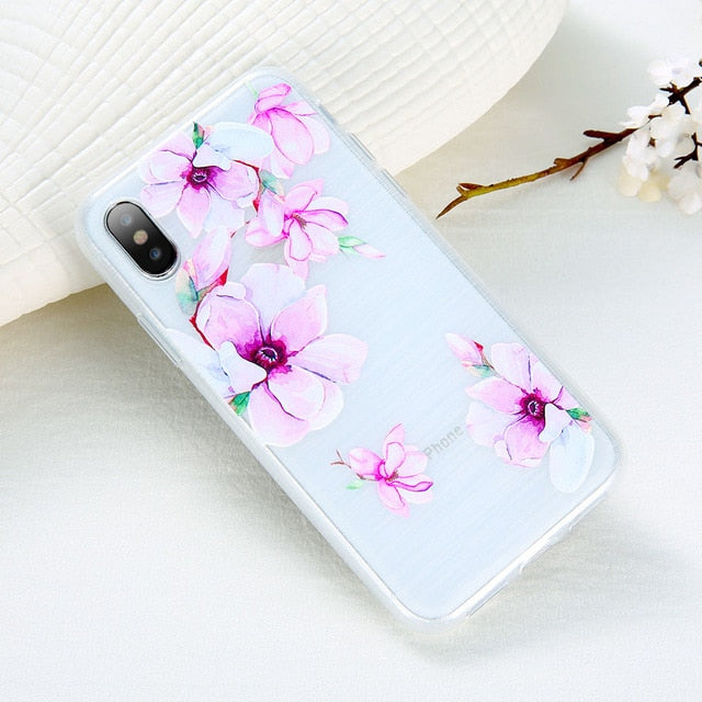 3D Relief Flower Phone Case For iPhone-Online Best Deals-Style 7-For iPhone 5 5s SE-Online Best Deals