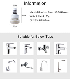 360 Degree Universal Movable Kitchen Tap Head-Online Best Deals