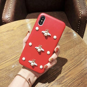 Luxury Bee Diamond Glitter 3D Phone Case For iphone-Online Best Deals-3RED092-for iphone 6plus-Online Best Deals