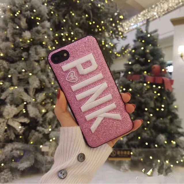 Leather Pink Case for iPhone-Unique Gift Ideas-Online Best Deals-Dark Red-For iphone 8-Online Best Deals