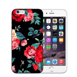 Vintage Flower Soft Silicone Phone Case For iPhone-Online Best Deals-T0415-For iPhone X-Online Best Deals